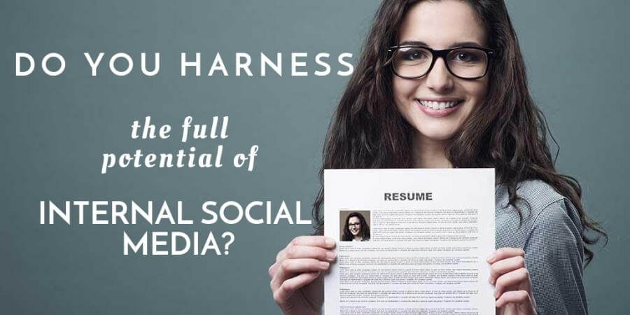 Internal social media for hiring