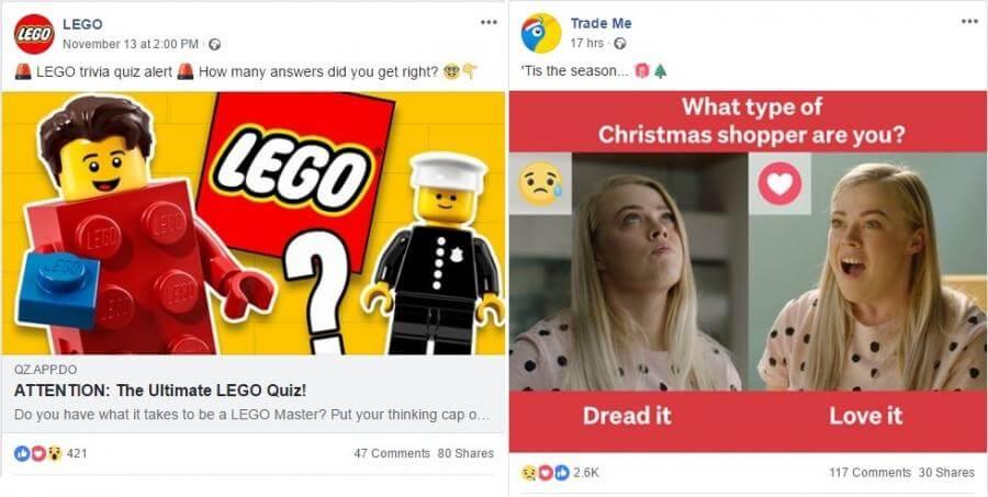 Make a quiz: Lego and Trade Me