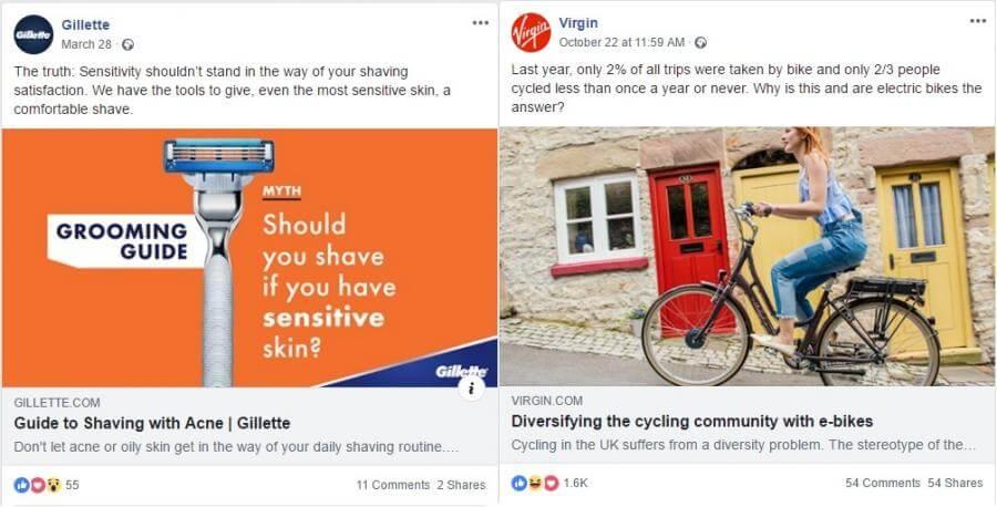 Share blog posts 1: Gilette and Virgin