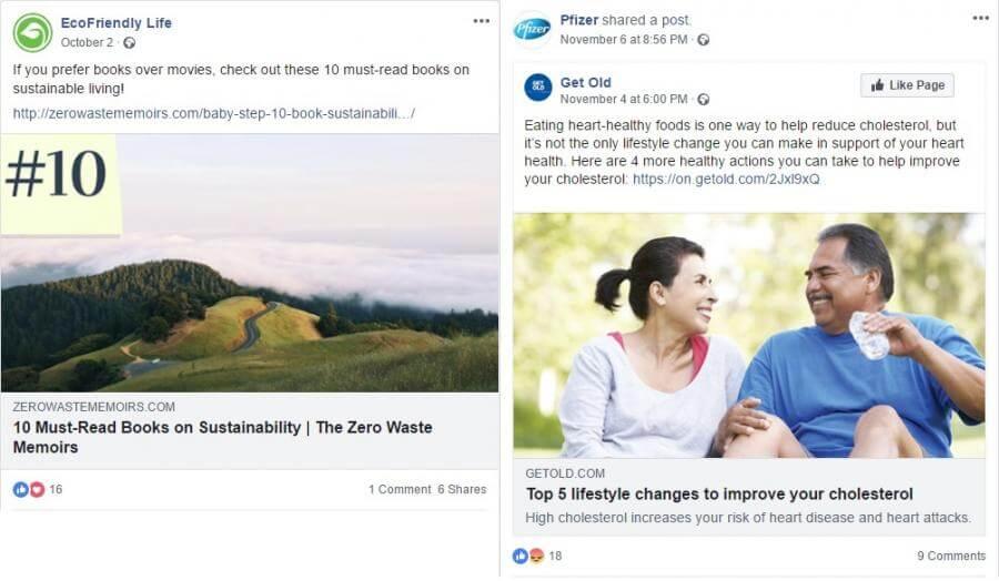 Share blog posts 2: EcoFriendly Life and Pfizer