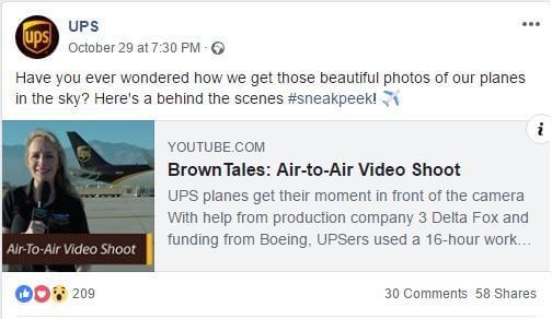 Behind the scenes content: UPS