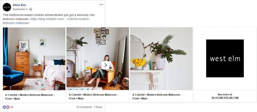 Facebook Ads: West Elm
