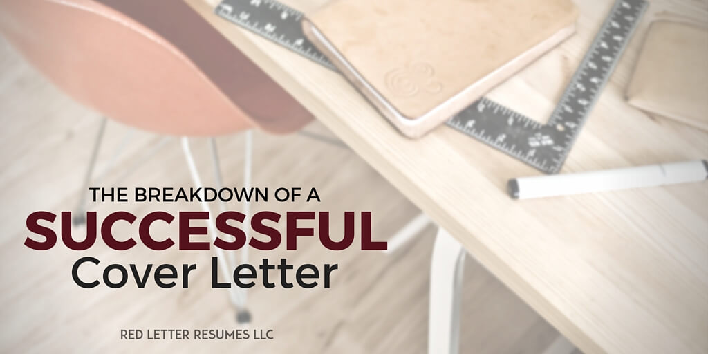 the breakdown of a successful cover letter
