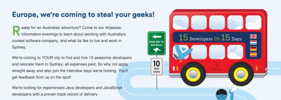 Atlassian Recruitment Campaign