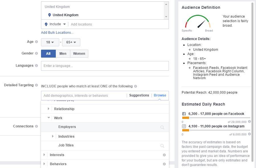 Facebook Advertising - Audience Targeting