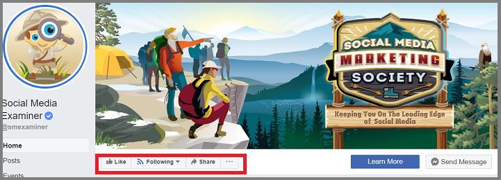 Facebook Following Feature