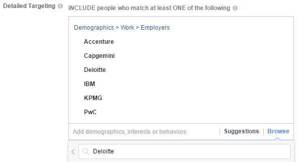 Facebook Advertising - Market To Specific Employees