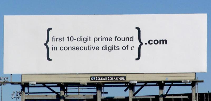 Google Cryptic Billboard