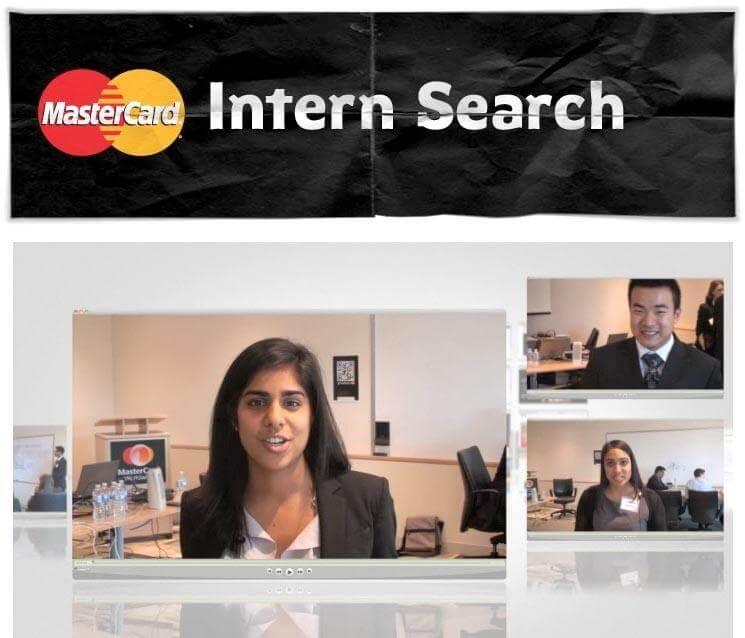 Mastercard intern recruitment campaign