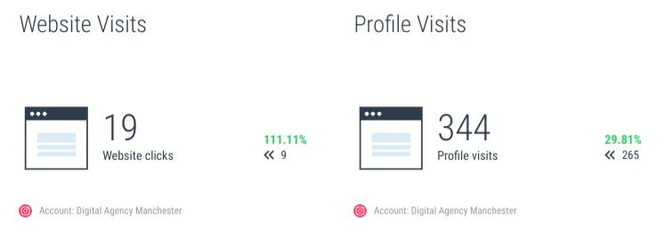 Website Visits and Profile Visits